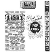 Tim Holtz Stempel Set: At the Movies CMS081