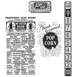 Tim Holtz Stamp Set: At the Movies CMS081