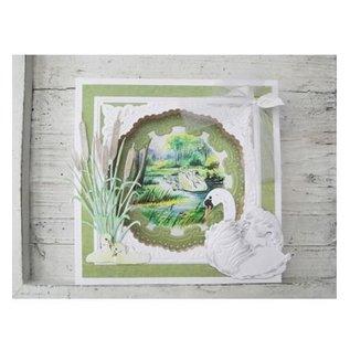 Bilder, 3D Bilder und ausgestanzte Teile usw... Bilderbogen: Tiny's Swans 1