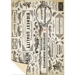 """1 bow designer box """"Vintage Labels"""", 250g.-Quality size: 24 x 34cm"""