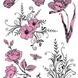 VIVA DEKOR (MY PAPERWORLD) Gennemsigtige frimærker Tema: Blomster