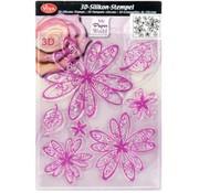 VIVA DEKOR (MY PAPERWORLD) Gennemsigtige frimærker, 3D blomster