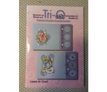 Bücher, Zeitschriften und CD / Magazines Book with many templates: Embroidering on map