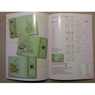 Bücher, Zeitschriften und CD / Magazines Book with many templates: Embroidering on map