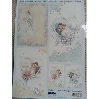 Bilder, 3D Bilder und ausgestanzte Teile usw... Background bow + cut sheets, theme: Wedding, Engagement