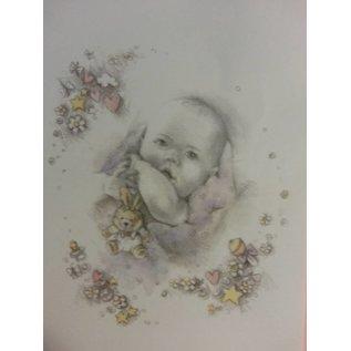 Bilder, 3D Bilder und ausgestanzte Teile usw... Hintergrundbogen+Stanzbogen, Thema: Baby