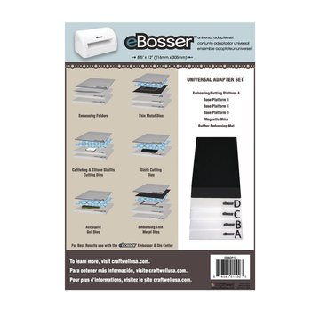 Crafter's Companion eBosser: Set with all original EBosser plate - LAST available