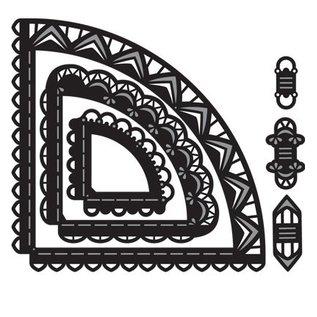 Marianne Design Ponsen en embossing sjabloon: Craftables Caroussel