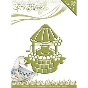Precious Marieke Ponsen en embossing sjabloon: fontein van het water
