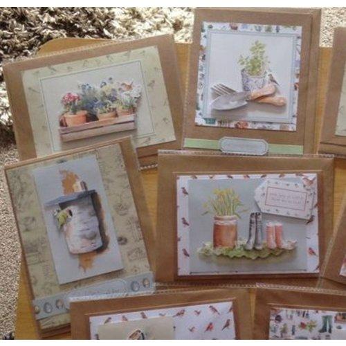 Docrafts / Papermania / Urban Set di carte decoupage in formato A4, motivi da giardino