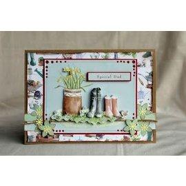 Docrafts / Papermania / Urban Juego de tarjetas A4 decoupage, motivos de jardín