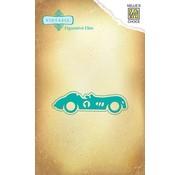 Nellie Snellen Ponsen en embossing sjabloon: Uitstekende auto
