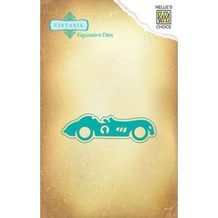Punching and embossing template: Vintage car