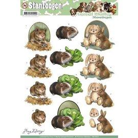 Bilder, 3D Bilder und ausgestanzte Teile usw... A4 cut sheets, Topic: Animals