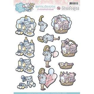Bilder, 3D Bilder und ausgestanzte Teile usw... A4 Stanzbogen, Thema: Baby