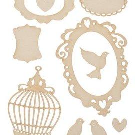 Pronty carton souple, 9s Set Oiseaux Vintage