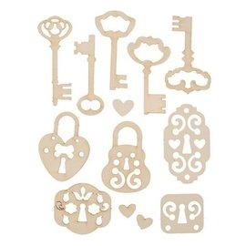 Pronty Blød pap, 13er Set vintage nøgler
