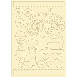 Pronty cartón blando, 22er conjunto de la vendimia
