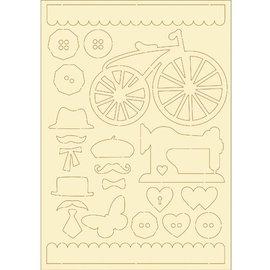 Pronty Soft cardboard, 22er Set vintage