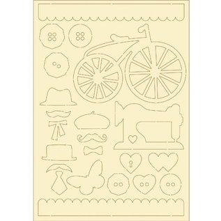 Pronty Zacht karton, 22er Set vintage