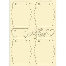 Pronty cartón blando, vintage 7 Set