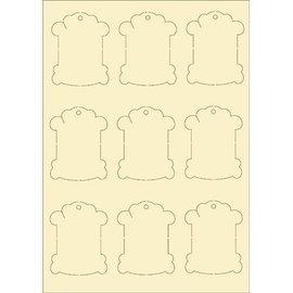 Pronty cartón blando, vintage 9s Set