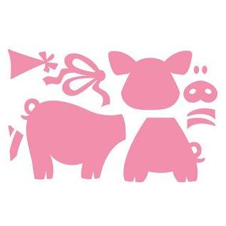 Marianne Design Ponsen en embossing sjablonen: Pigs