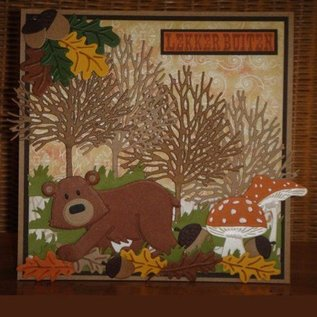 Marianne Design Ponsen en embossing sjablonen: Bear