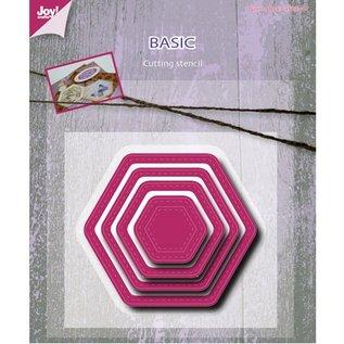 Joy!Crafts / Jeanine´s Art, Hobby Solutions Dies /  Ponsen en embossing sjabloon, Basic Mery zeshoekige