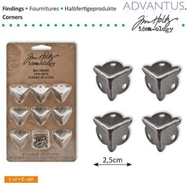Embellishments / Verzierungen 8 Ancient Box Eck feet + screws