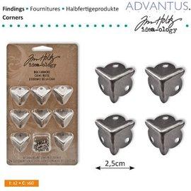 Embellishments / Verzierungen 8 pies Caja antigua Eck + tornillos