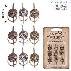 Embellishments / Verzierungen 9 Mini metalen handgrepen, Antique