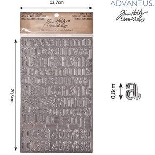 Embellishments / Verzierungen Advantus Tim Holtz lettere adesivo industriosa