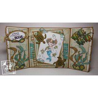 Joy!Crafts / Jeanine´s Art, Hobby Solutions Dies /  Stempelen en embossing stencil, Squid, Turtle, Shark