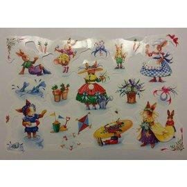 Bilder, 3D Bilder und ausgestanzte Teile usw... Bilderbogen, kladjes, thema: schattige kleine konijntje