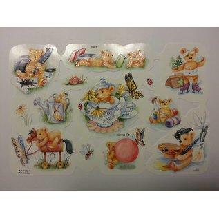 Bilder, 3D Bilder und ausgestanzte Teile usw... Picture sheet, scraps, theme: cute bears