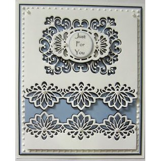 CREATIVE EXPRESSIONS und COUTURE CREATIONS Ponsen en embossing sjabloon: De Gemini Collection