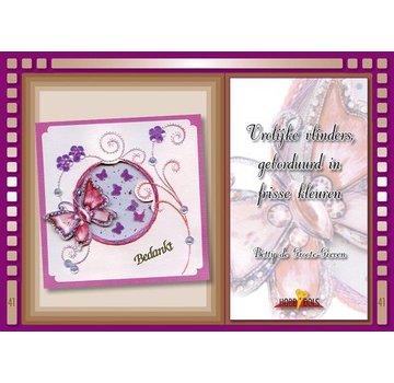 Bücher, Zeitschriften und CD / Magazines Bastelbuch Thema: Schmetterlinge mit Stickvorlage