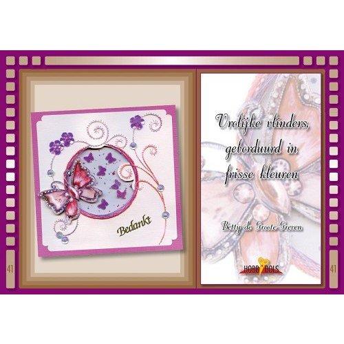 Bücher, Zeitschriften und CD / Magazines Bastelbuch Thème: Papillons avec Stickvorlage