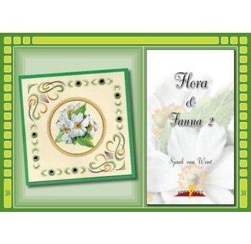 Bücher, Zeitschriften und CD / Magazines Bastelbuch Thema: Flora en Fauna mit Stickvorlage