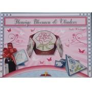 Bücher, Zeitschriften und CD / Magazines Bastelbuch Theme: Butterflies and flowers with Stickvorlage