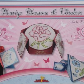 Bücher, Zeitschriften und CD / Magazines Bastelbuch Thème: Papillons et fleurs avec Stickvorlage