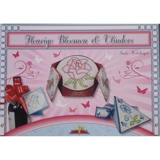 Bücher, Zeitschriften und CD / Magazines Bastelbuch Tema: Sommerfugler og blomster med Stickvorlage