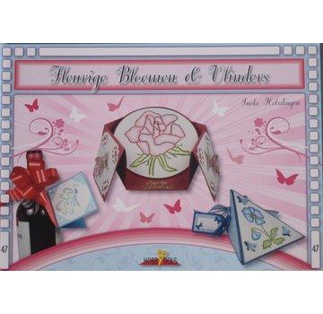 Bücher, Zeitschriften und CD / Magazines Bastelbuch Thema: Schmetterlinge und Blumen mit Stickvorlage