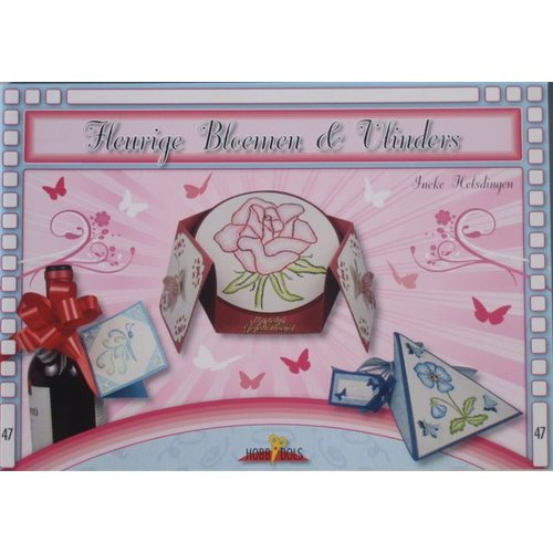 Bücher, Zeitschriften und CD / Magazines Bastelbuch Thema: Vlinders en bloemen met Stickvorlage