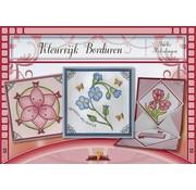 Bücher, Zeitschriften und CD / Magazines Bastelbuch theme: flowers with Stickvorlage