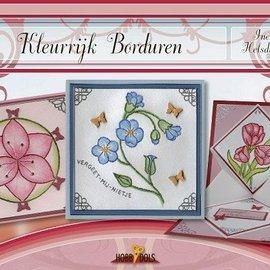 Bücher, Zeitschriften und CD / Magazines Bastelbuch tema: blomster med Stickvorlage