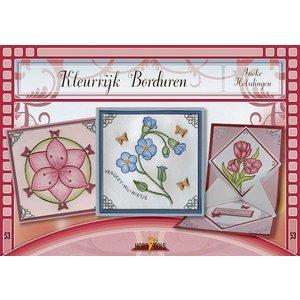 Bücher, Zeitschriften und CD / Magazines Bastelbuch thema: bloemen met Stickvorlage
