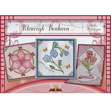 Bücher, Zeitschriften und CD / Magazines Bastelbuch Thema: Blumen mit Stickvorlage