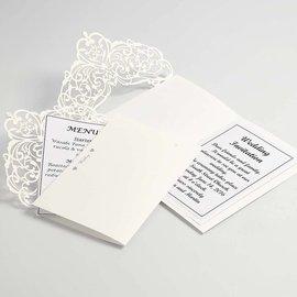 KARTEN und Zubehör / Cards Karte & Umschlag, Kartengröße 12x17,7 cm, creme, 5 Stück, 230 g - LETZTE VERFÜGBAR